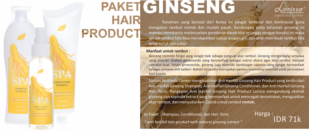 Paket Hair Product Ginseng