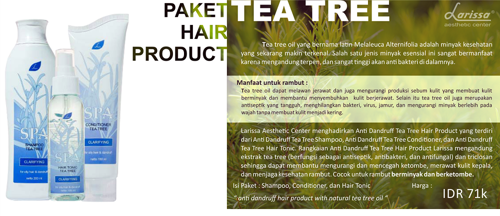 Paket Hair Product Tea Tree